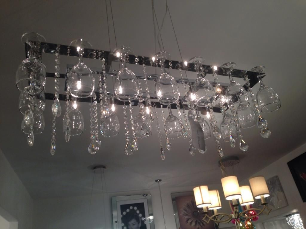 Chandelier-from-wine-glasses