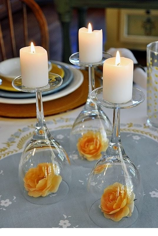 Create-Attractive-Centerpiece-using-Wine-Glasses