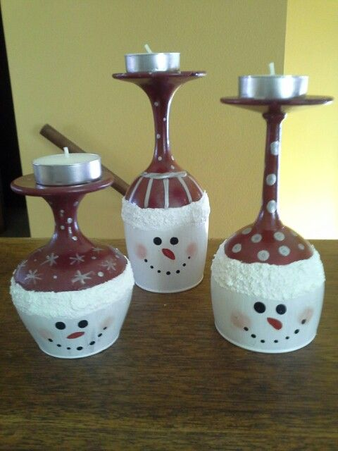 Wine-Glass-Snowmen-Candle