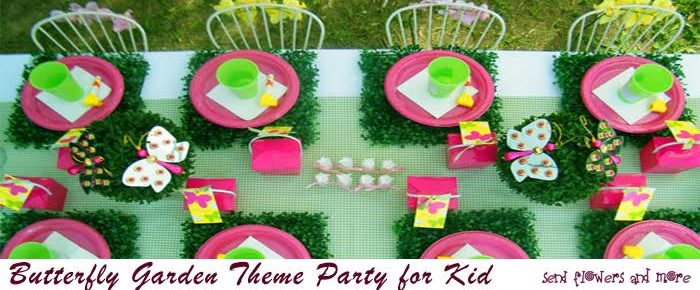 Butterfly Garden Theme Party for Kid's Birthday Celebration