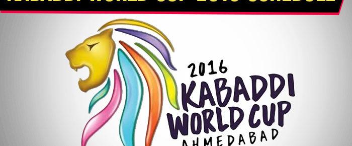 Kabaddi World Cup 2016 Schedule – Kabaddi World Cup Time Table