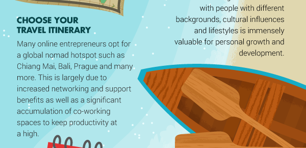 How to Run A Business While Traveling For Six Months Every Year – Infographic