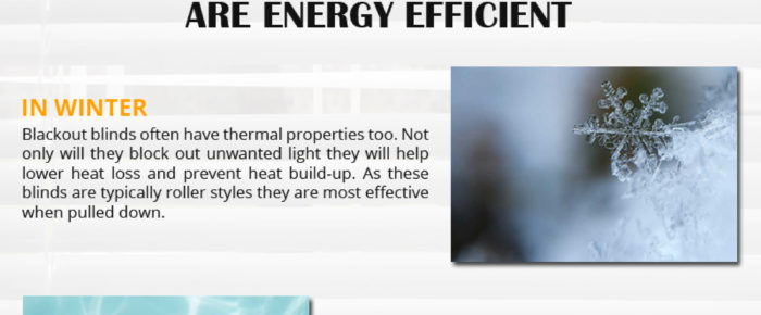 Save Energy and Electricity bills with Blackout Blinds – Infographic