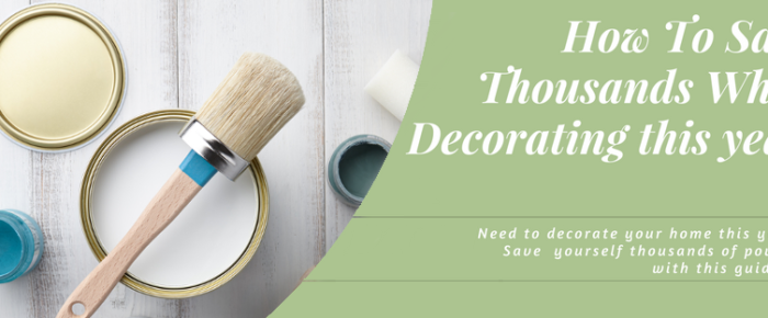 How To Save Money Decorating This Year